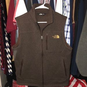 Brown North Face Fleece-Lined Vest